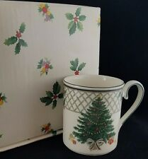 """(8) Christmas Story by Mikasa Mugs, 3 3/4"""", EUC in Boxes"""