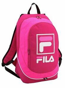 FILA COMPACT PINK BACKPACK - WOMENS GIRLS RUCKSACK SCHOOL DAY BAG