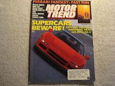 Motor Trend 1989 September Ferrari Pontiac Sunbird BMW 525i Audi Nissan 300ZX