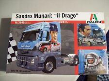 "Italeri 1/24 Scale Sandro Munari ""Il Drago"" Truck Cab Model Plastic Kit 3849"