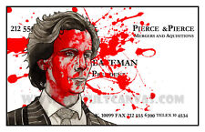 Original American Psycho Art Print Poster Patrick Bateman Horror Axe Murder Blu