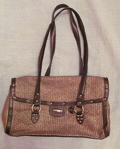 THE SAK  metallic gold woven brown bronze straps TIKI  vegan shoulder bag NWOT