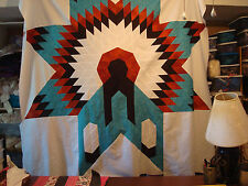 WARRIORS BONNET LONE STAR - Quilt Top Only, machine pieced, Made in the USA