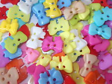 50 x BOW 2 HOLE RESIN 17mm SEWING BUTTONS, SCRAPBOOKING, CRAFT ETC.,
