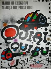 Joan MIRO Affiche originale lithographie Joan BROSSA