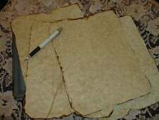 ~ 10 SHEETS ~AGED PARCHMENT PAPER FOR CRAFTS,SPELLS ~