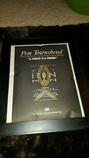 Pete Townshend A Friend Is A Friend Rare Original Radio Promo Poster Ad Framed!