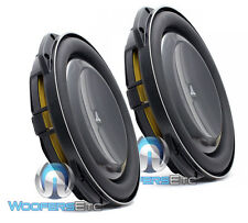 "2 JL AUDIO 13TW5v2-4 OHM 13.5"" SUBS THIN SHALLOW SUB-WOOFERS BASS SPEAKERS NEW"