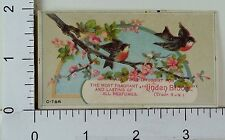 "Victorian Trade Card ""Linden Bloom"" Perfume Colorful Birds Blossoms Image F72"