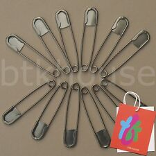 """Lot of 12 Large Big 5"""" Inch Laundry Stainless Steel Safety Pins Kilt Diaper Pins"""