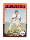 1975 TOPPS BASEBALL ROBIN YOUNT ROOKIE CARD #223 EXMT-NM NO CREASES (269)