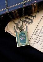 Bronze Wizard of OZ Book Photo LOCKET Necklace Pendant Steampunk Magic Fairy