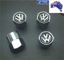 4x VW Volkswagen Tire Wheel Rims Air Valve Caps High Quality Stainless Steel