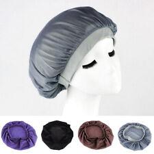 Long Hair Care Women Satin Bonnet Cap Night Sleep Hat Silk feel Cap Head Wrap CC