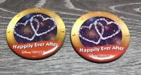 """(2) Walt Disney Cruise Line """"Happily Ever After"""" 2 1/2"""" Inches Pin / Button!"""