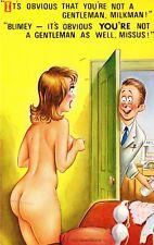 Vintage 1970's Bamforth COMIC Postcard (new old stock) not a gentleman #2328