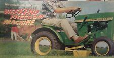 John Deere 110 Round Fender Lawn Garden Tractor 1966 Sales Brochure Manual 60