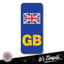 GB NUMBER PLATE STICKER Motorcycle Motorbike Union Jack No EU Euro Flag BREXIT