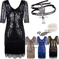 Roaring 1920's Dresses For Women's 1920s Flapper Dress V Neck Bead Wedding Club