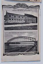 26672 AK Grünewalde Elbe Gasthaus zum Jägerhof und Brücke 1916 bei Schönebeck