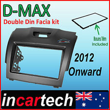 Isuzu D-Max DMAX MY12 2012+ Facia Fascia Kit Double Din DVD Stereo Free Trim