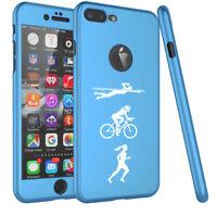 For iPhone 360° Thin Slim Case Cover + Protector Female Triathlon Swim Bike Run