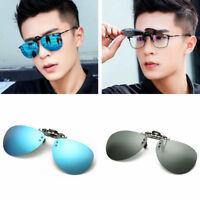 Polarized Flip-up Clip-on  Mirrored Lens Sport Driving Glasses Sunglasses