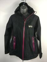 WOMENS NORTH RIDGE BLACK PURPLE ZIP UP HOOD ZIP POCKETS LIGHTWEIGHT JACKET UK 12