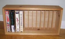 New listing Napa Valley Box Company-Wood Storage Rack- holds 12 Vhs Video Cassette Tapes