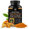 Angry Supplements Ultra Pure Turmeric 95% Curcumin w. BioPerine Pills, 1 Bottle