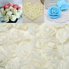 100 Foam Rose Heads Artificial Flowers Wedding Party Decor DIY