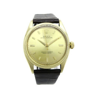 ROLEX OYSTER PERPETUAL Ref.6567 27* Mens Self-winding Wristwatch GP O03143