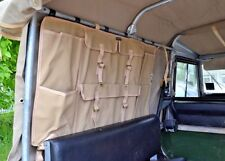Land Rover Canvas Side Storage Bag in Sand Canvas