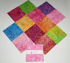 """Indonesia Batik Charm Pack Quilt Fabric 48 - 5"""" Squares Bright Colorful Patterns"""