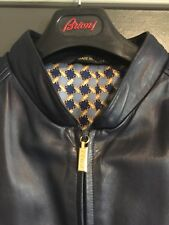 Zilli, Mens Large, Blue Leather Calfskin, Iconic Silk Lining, Made in France