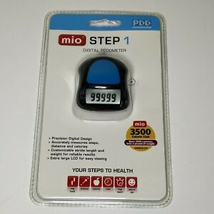New In Package Clip On Digital Pedometer Walking Tracker - Steps Calories Time