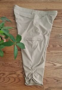 Eddie Bauer Hiking Fishing Outdoor Travel Cropped Pants Women's Size 12 EUC