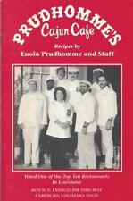 Prudhommes Cajun Cafe Cookbook Signed by Chef Enola Prudhomme Turtle Soup & More