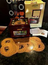 Mr. Christmas NUTCRACKER Musical Bell Symphonium Music Box w/ 16 Discs