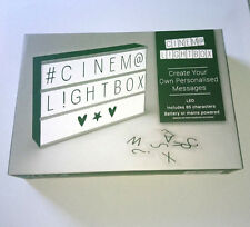 CUSTOMISABLE LED CINEMA LIGHT BOX MESSAGE BOARD Mains / 6x AA SIGN 85 characters