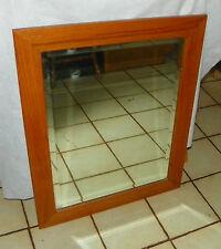 Solid Oak Beveled Mirror  (MR16)