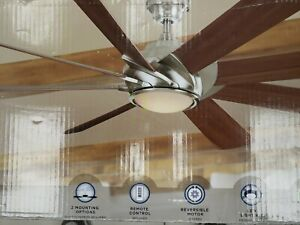 Harbor Breeze Hydra 70 Inch Brushed Nickel Indoor Ceiling Fan with Light and ...