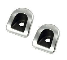2005-2014 Mustang or Shelby Brushed Aluminum Door Panel Lock Grommets Covers Set
