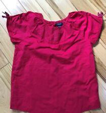 CHAPS Deep Raspberry Pullover Cotton Blouse Sz XL 16 Girls