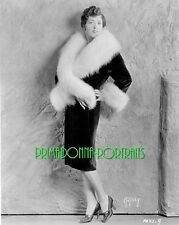 "MARY DUNCAN 8x10 Lab Photo 1920s Photographer, ""AUTREY"" Silent Era Fur Portrait"