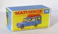Repro Box Matchbox 1:75 Nr.12 Safari Land Rover blau