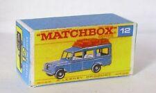 Repro box MATCHBOX 1:75 Nº 12 safari Land rover Bleu