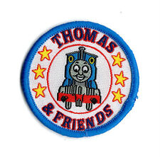 THOMAS THE TANK ENGINE BLUE Sew on Patch Embroidered Badge Cartoon Train TV PT8