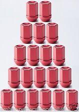 Cuchara Deportes Ligero Aluminio Rueda Tuercas-Rojo (se vende por tuerca)