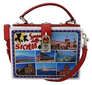 DOLCE & GABBANA Bag Plexi Box Sicilia Square Hand Shoulder Purse Borse RRP $2650